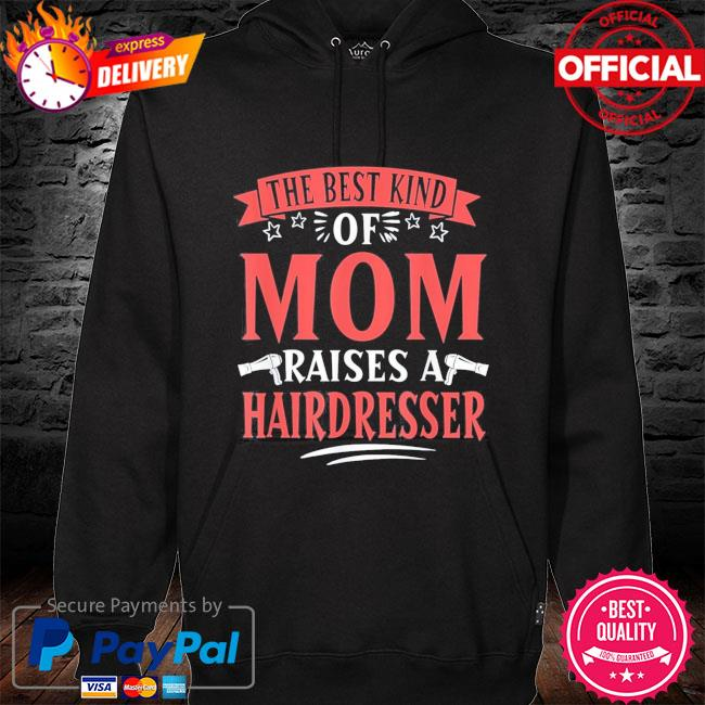 Hairdresser mom haircutter mother's day s hoodie black