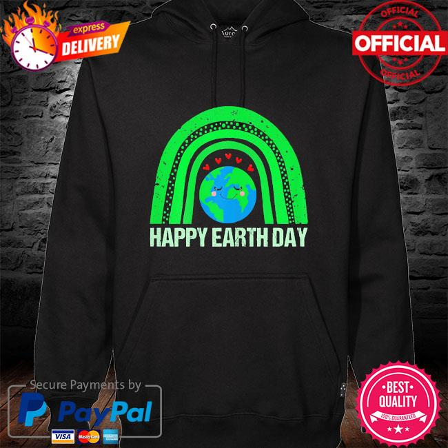 Happy earth day 2021 earth lover hoodie black