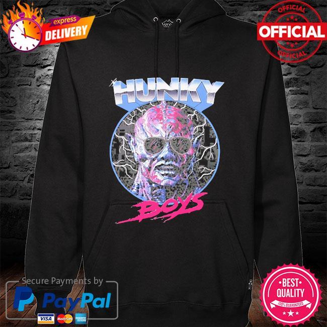 Hunky boys hoodie black
