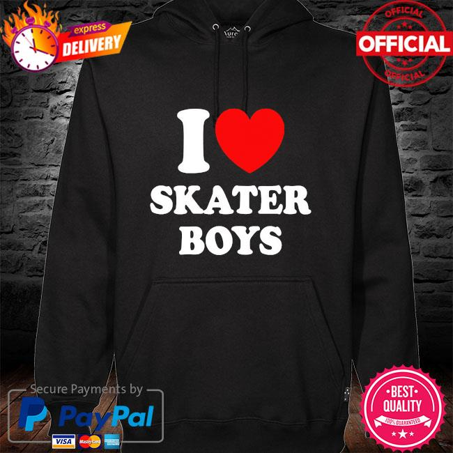 I love skater boys s hoodie black