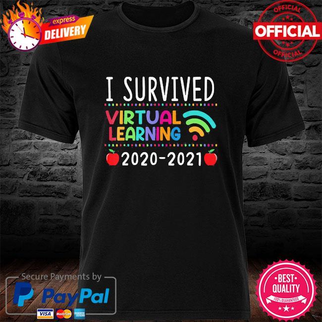 I survived virtual learning 2020 2021 shirt