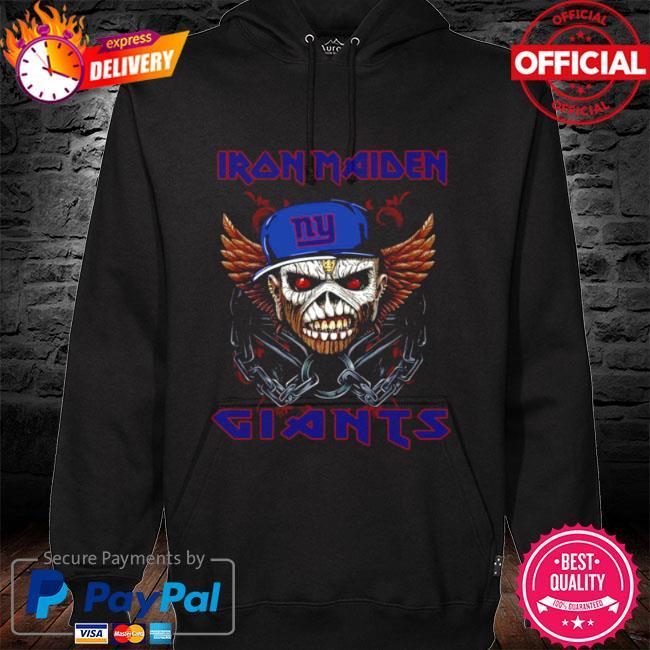 Iron maiden skull new york giants 2021 s hoodie black