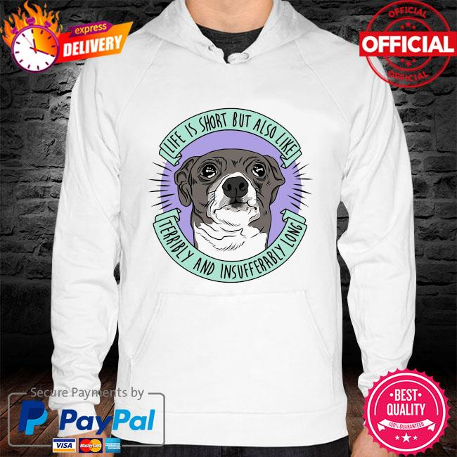 Jenna marbles life is short but also like terribly and insufferably long at the same time hoodie white