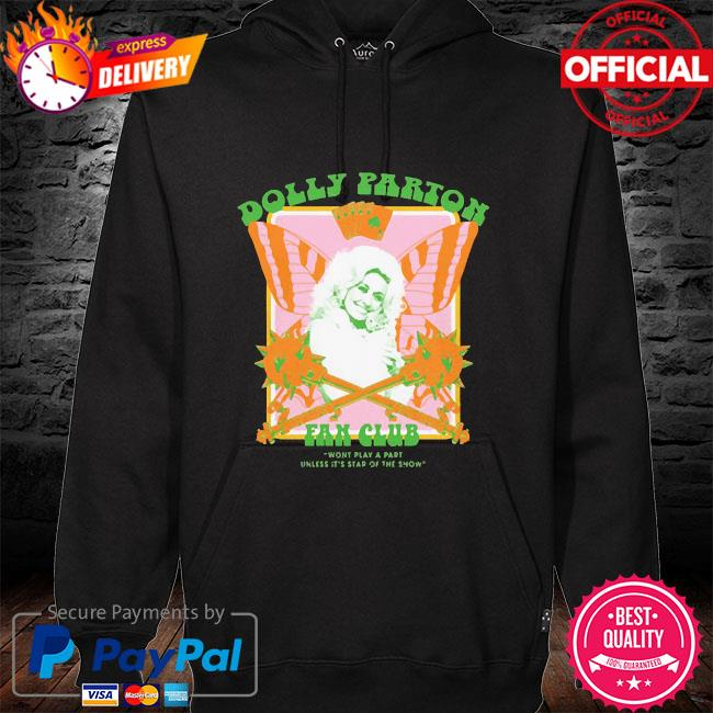 Jimmy knives yowcho merch dolly parton fan club black hoodie black