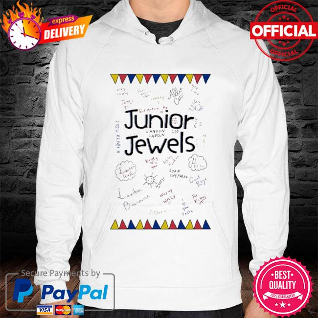 Junior jewels hoodie white