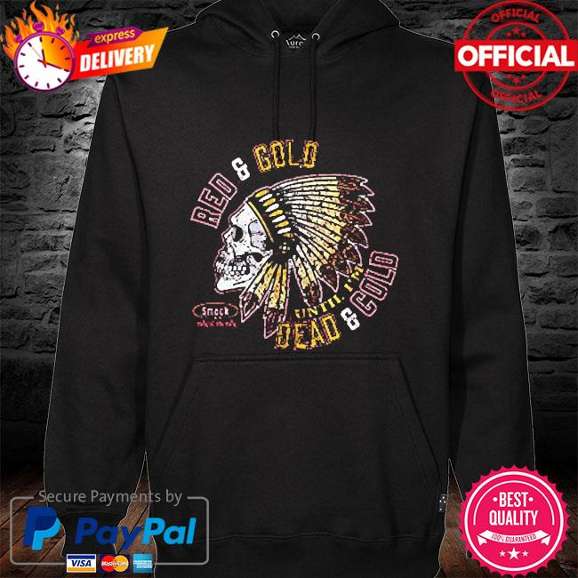 Kansas city football fans red and gold dead and cold hoodie black