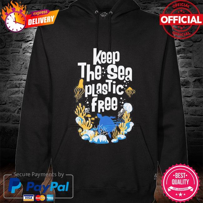 Keep the sea plastic free hoodie black