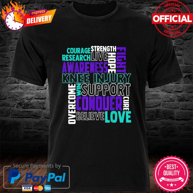 Knee injury awareness acl mcl related teal ribbon shirt