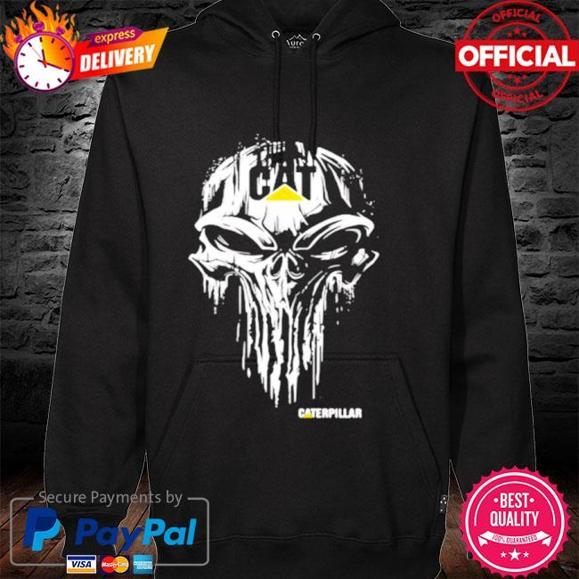 Punisher with caterpillar logo s hoodie black