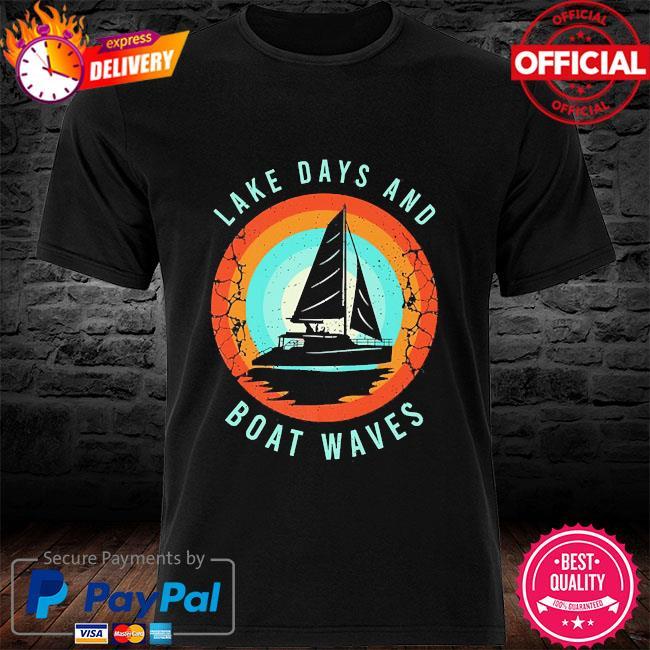Lake day boat waves boating shirt