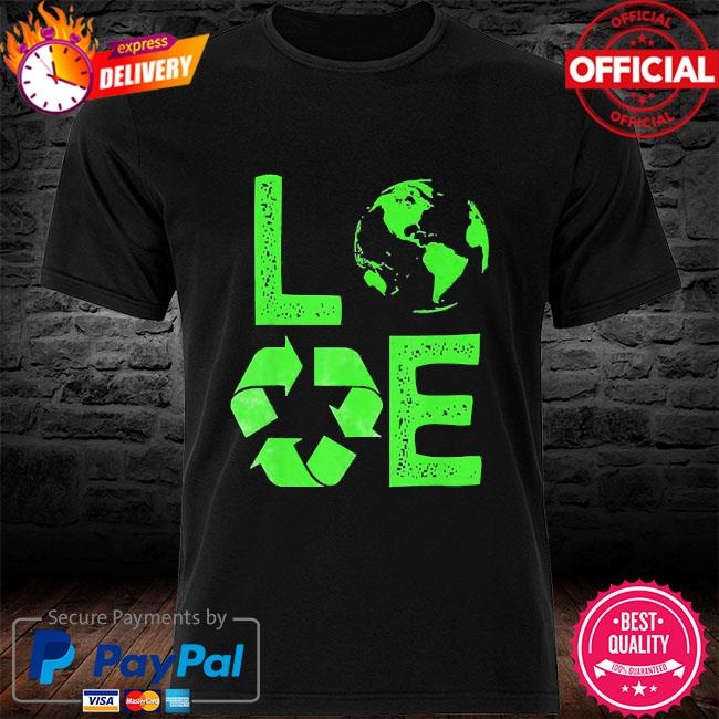 Love earth day 90s planet vintage recycling shirt