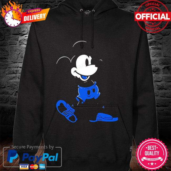Mickey mouse Jordan 12 game royal matching hoodie black