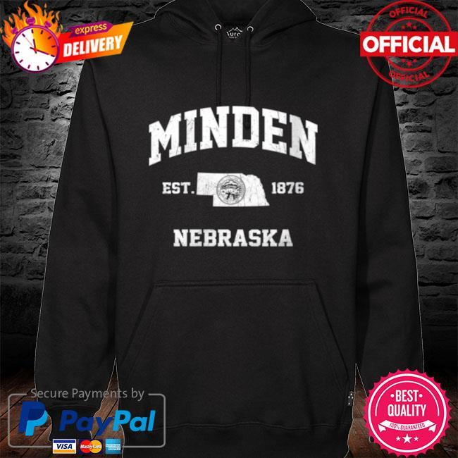 Minden nebraska ne vintage state athletic style s hoodie black