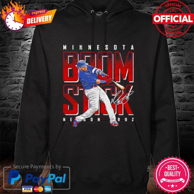 Minnesota baseball nelson cruz boomstick signature s hoodie black