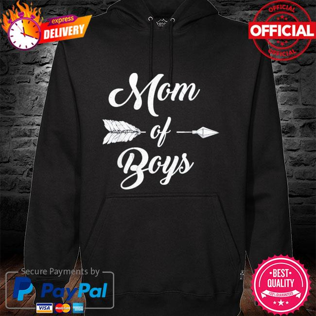 Mom of boys mommy and son proud mother mama us 2021 s hoodie black