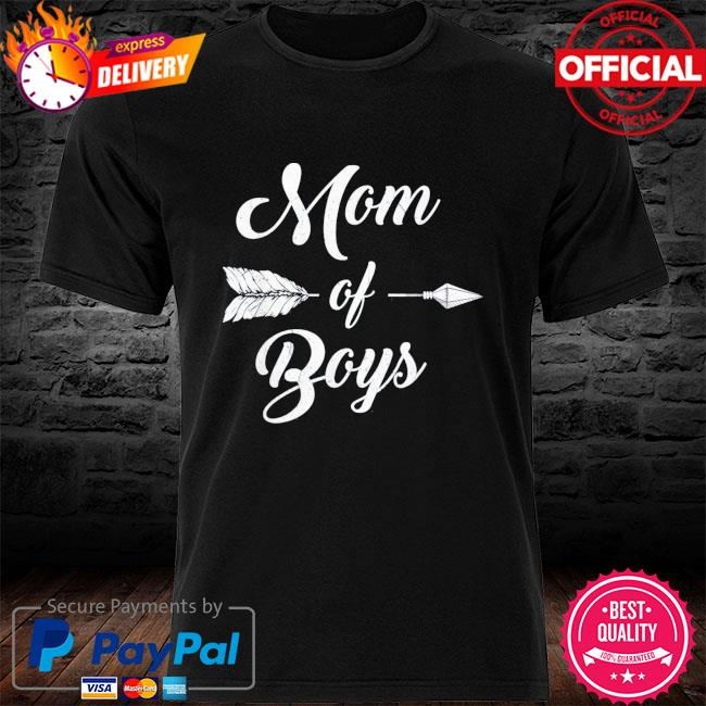 Mom of boys mommy and son proud mother mama us 2021 shirt