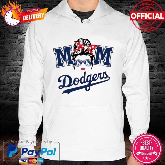 Mom skull los angeles dodgers baseball 2021 s hoodie white