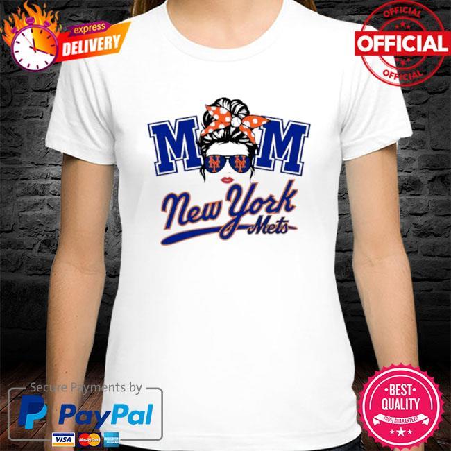 Mom skull new york mets baseball shirt