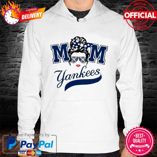 Mom skull new york yankees baseball s hoodie white