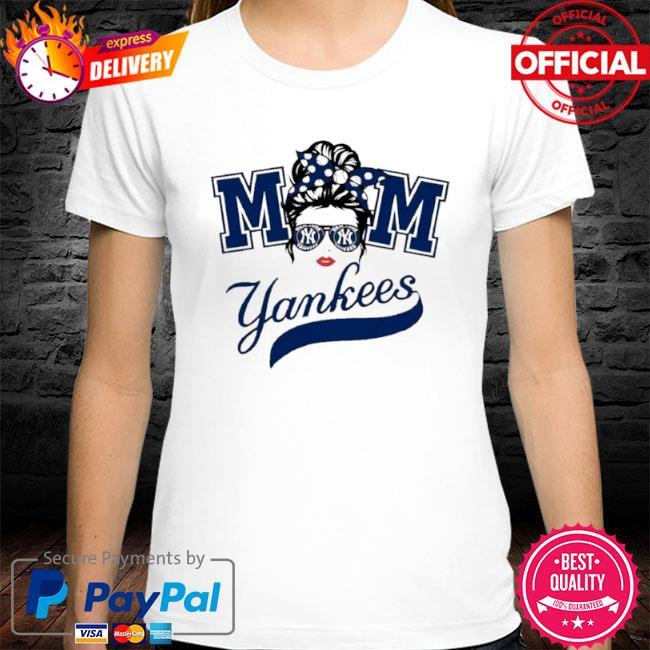 Mom skull new york yankees baseball shirt
