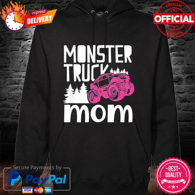 Monster truck mom truckers retro mother us 2021 s hoodie black