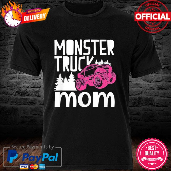 Monster truck mom truckers retro mother us 2021 shirt