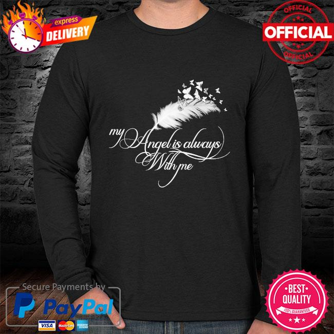 My angel is always with me sweater black