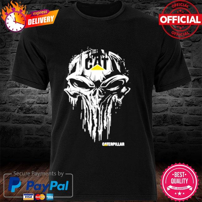 Punisher with caterpillar logo shirt
