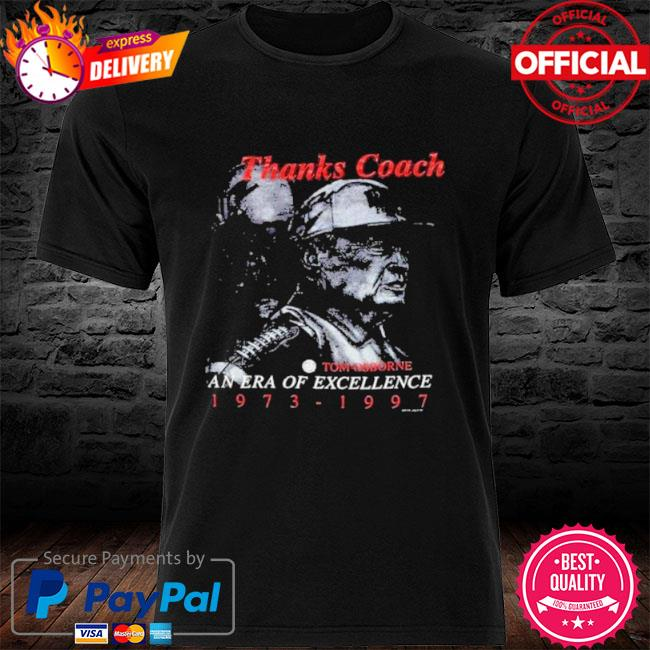 Nebraska huskers coach tom osborne era of shirt
