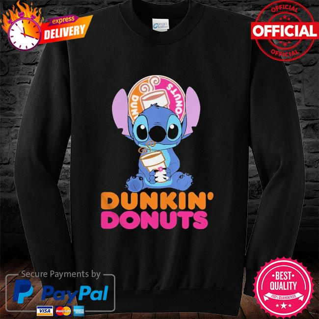 Official Baby stitch hug Dunkin' Donuts 2021 long sleeve black