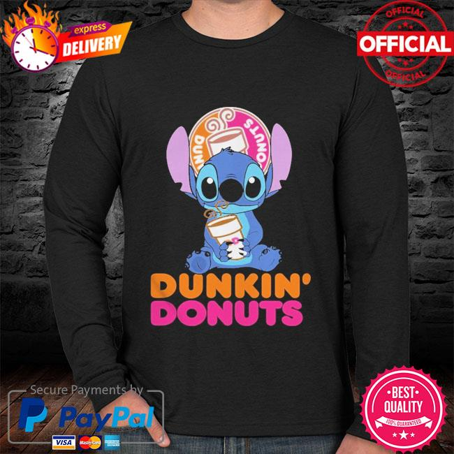Official Baby stitch hug Dunkin' Donuts 2021 sweater black