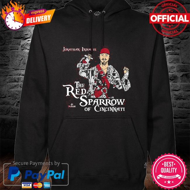 Official jonathan india the red sparrow hoodie black