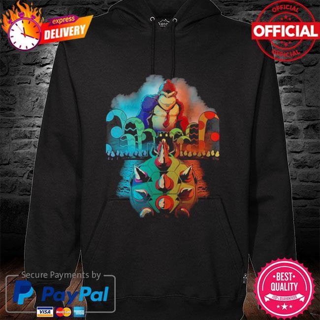 Official Koopa vs kong movie video game mashup s hoodie black