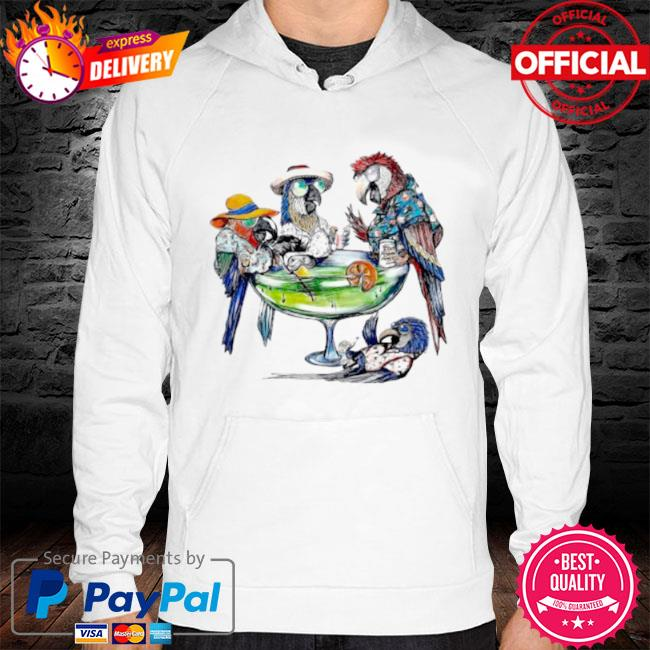 Parrot art cooktail s hoodie white