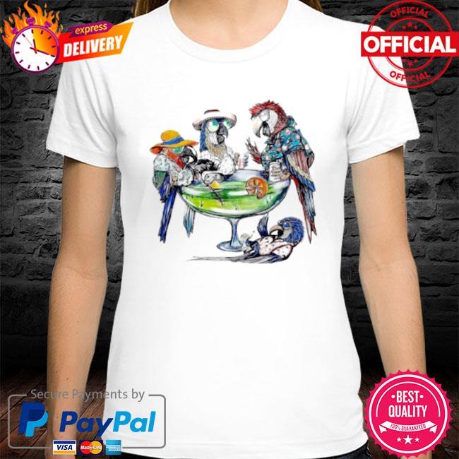 Parrot art cooktail shirt