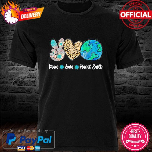 Peace love earth day shirt