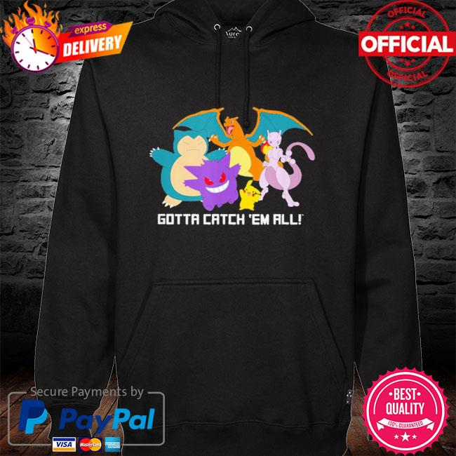 Pokemon gotta catch 'em all 2021 hoodie black