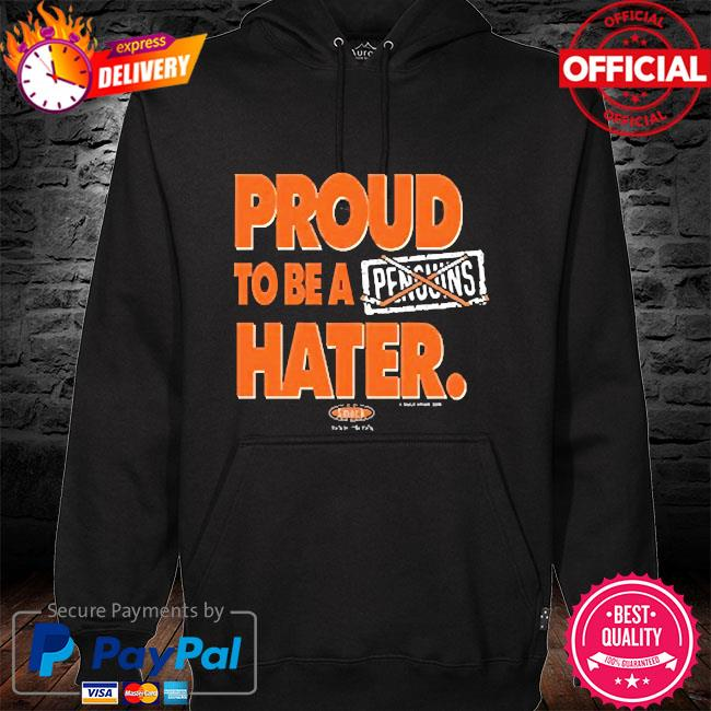 Proud to be hater hoodie black