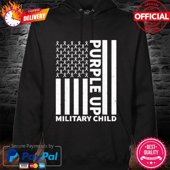 Purple up for military child military month hoodie black