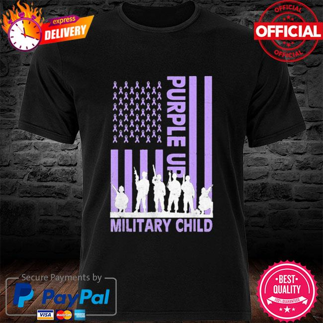 Purple up for military kids military child American flag shirt