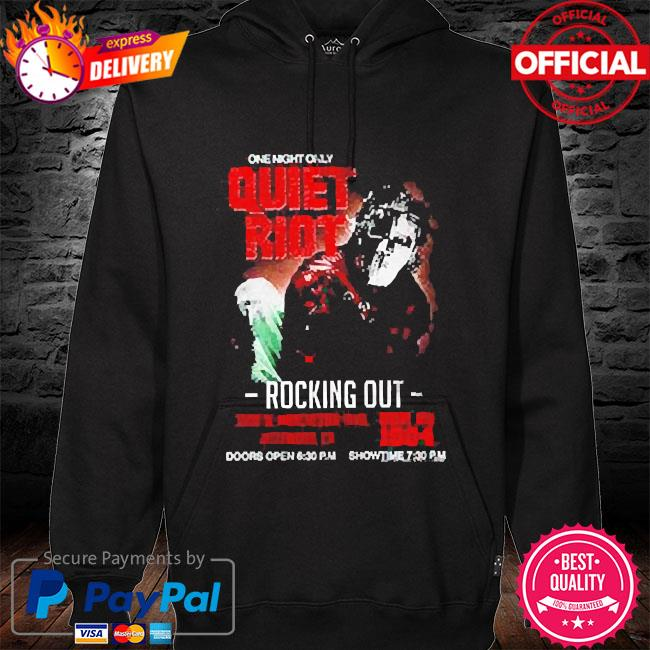 Quiet riot metal health rocking out tour hoodie black