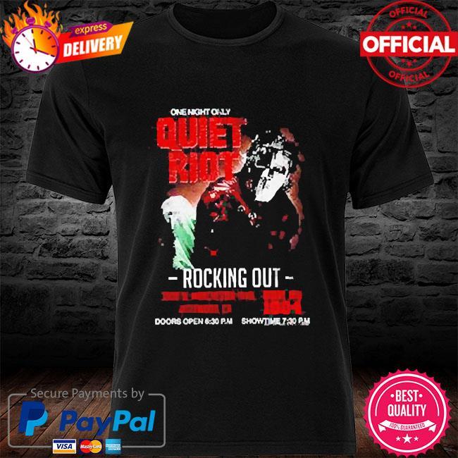 Quiet riot metal health rocking out tour shirt