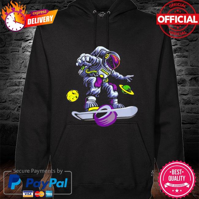 Skating astronaut on onewheel s hoodie black