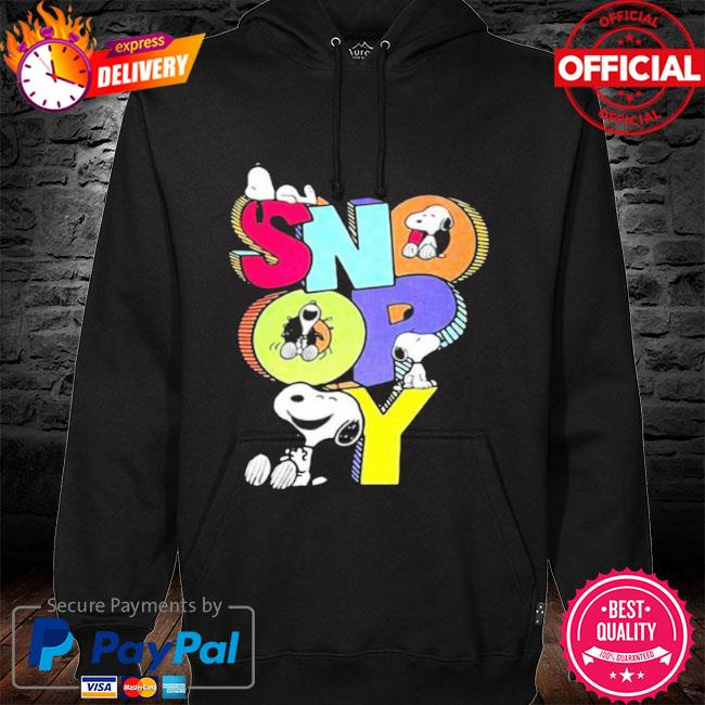 Snoopy cute s hoodie black