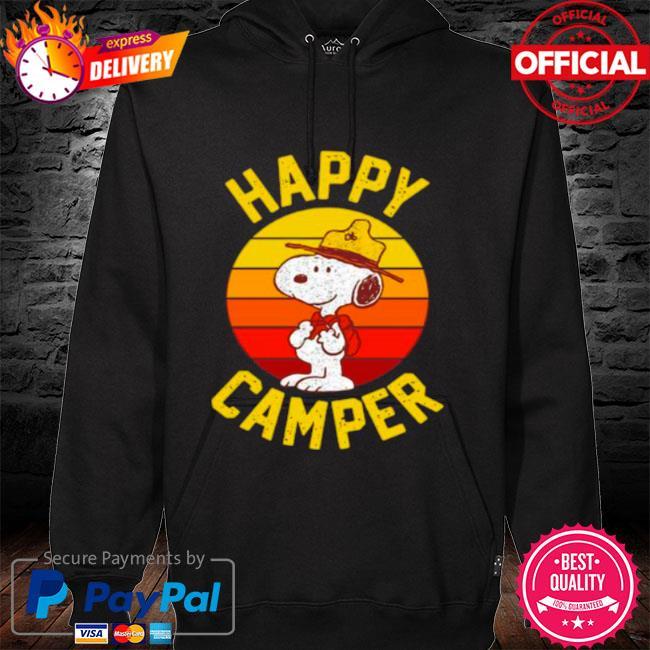 Snoopy happy camper vintage s hoodie black