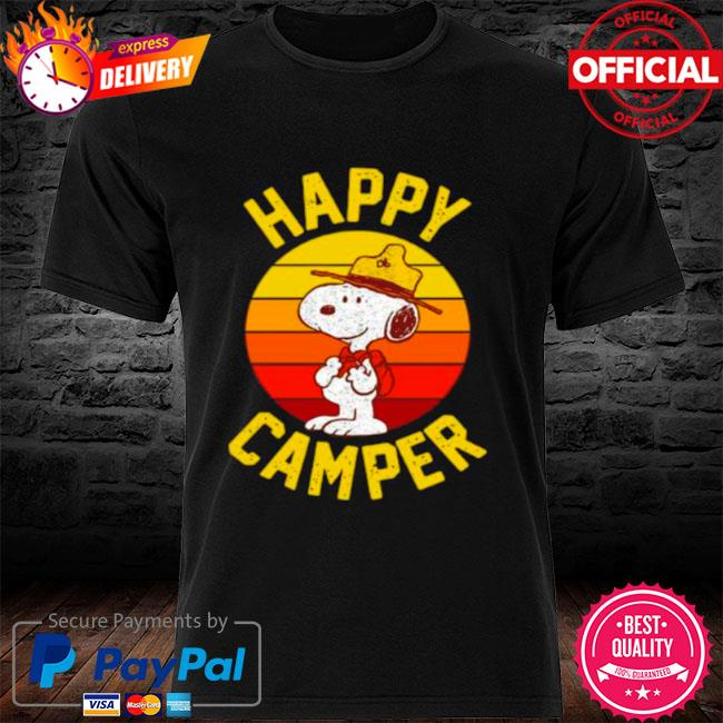 Snoopy happy camper vintage shirt
