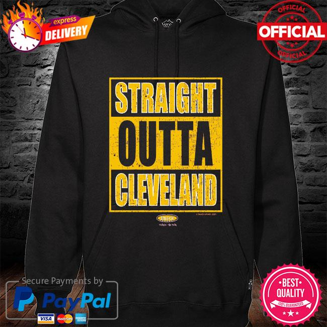 Straight outta cleveland hoodie black
