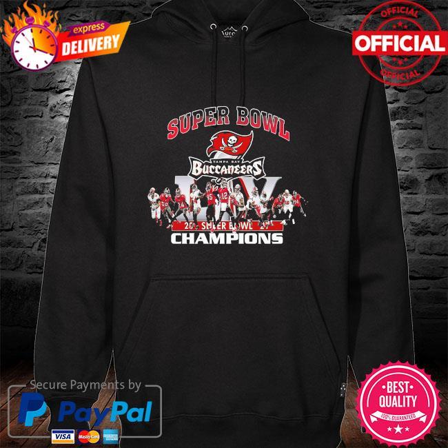 Tampa bay buccaneers super bowl champions 2021 hoodie black
