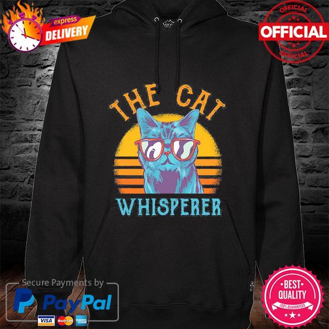 The Cat whisperer vintage hoodie black