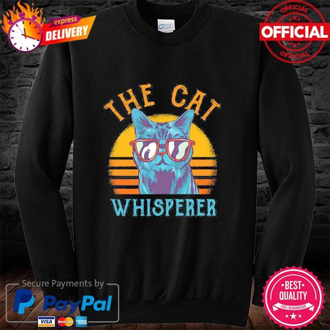 The Cat whisperer vintage long sleeve black